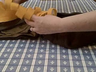 How to sew mane on lion costume