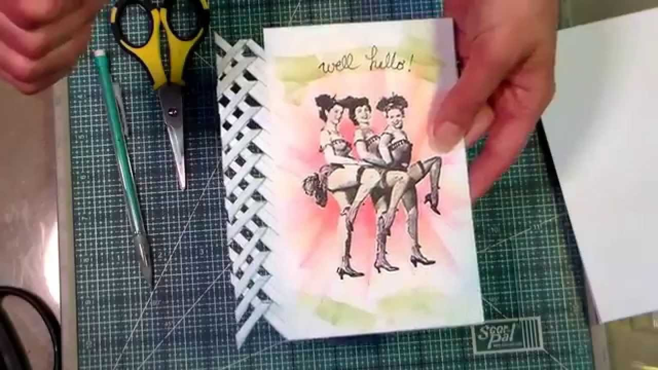 Lattice edge card braid