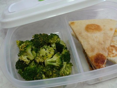Lunch Box Ideas: Steamed Broccoli in just 1 minute