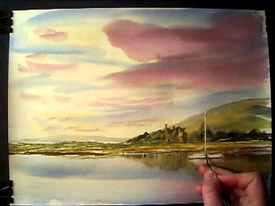 Painting with Watercolours featuring the Isle of Arran in Scotland #4