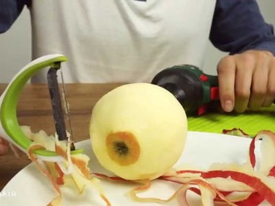 Peel an Apple with Power Drill in Few Seconds!
