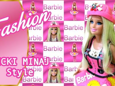 Play Doh Barbie Makeover in Nicki Minaj Fashion Style Play-Doh Craft N Toys