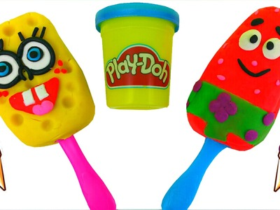 Play Doh Surprise Funny Ice Cream Spongebob Patrick