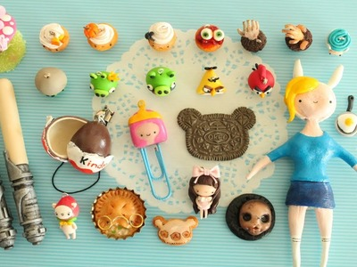 Polymer Clay Charm Update #6 - Cupcakes, PaperPastels, Halloween & More!