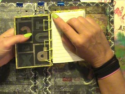 Secret belgian binding art journal. Tutorial, part 1 of 3