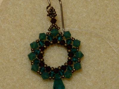 Sidonia's handmade jewelry - Swarovski Crystal Wreath Earrings - Swarovski earrings