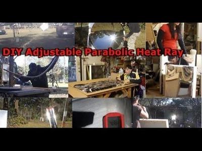 "Solar Death Ray 10,000 suns 48"" DIY Giant Archimedes Parabolic Mirror Reflector"