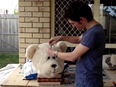 The making of the bear costume