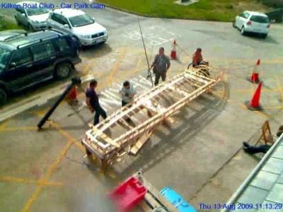 Time Lapse of Kilkee Boat Club Building a Currach