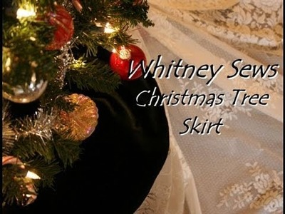 Whitney Sews- Christmas Tree Skirt