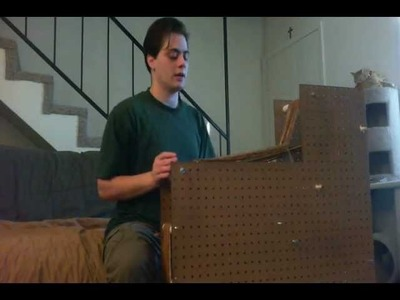 An inkle loom made from pegboard