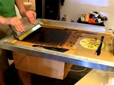 Anthem Screen Printing: Printing a Paper Bag