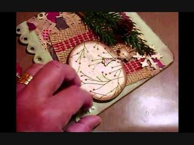 """BFF"" Christmas LO wall hanging project! (Vid #218) Pt2"