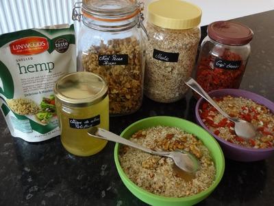 Breakfast idea no milk Breakfast Muslie for the champions
