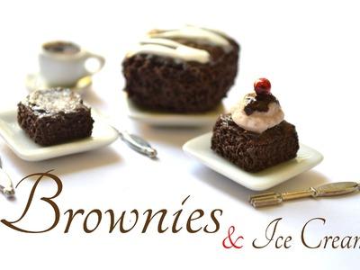 Brownies & Ice Cream Polymer Clay Tutorial. Brownies & Helado Porcelana fría.Arcilla Polimérica