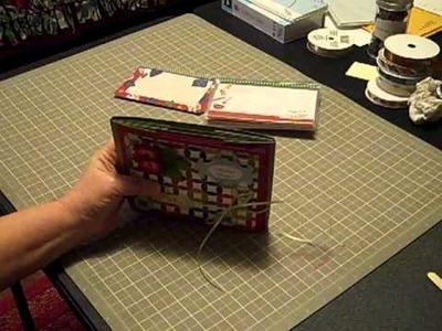 Cardstock Christmas Recipe Mini Album