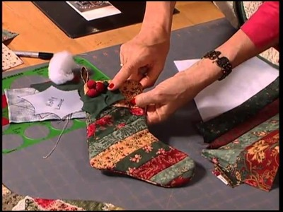 Christmas at Bear's Paw Ranch - Christmas Stockings - Crazy Quilt Stocking, Strip Stocking