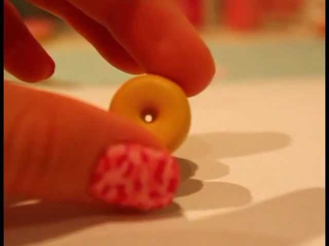 Cute and easy DONUT Charm- tutorial (Polymer Clay)