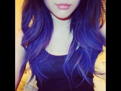 D.I.Y DIP Dye hair + Purple Hair Extensions + Review HairextensionSale.com