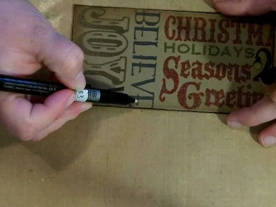 Day 3: Tim Holtz' 12 Tags of Christmas 2011