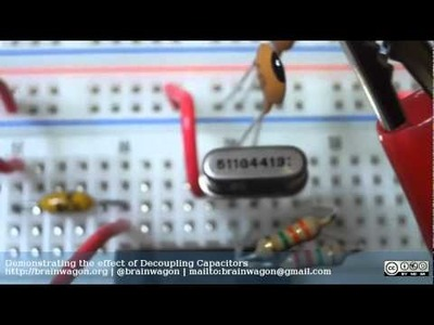 Demonstrating the Effect of Decoupling Capacitors