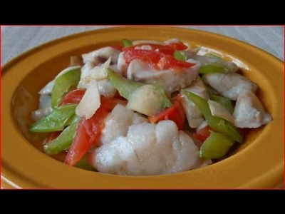 Easy Cooking Chinese food. Fish & Celery