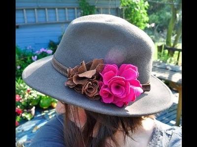 Fabric flower brooch tutorial