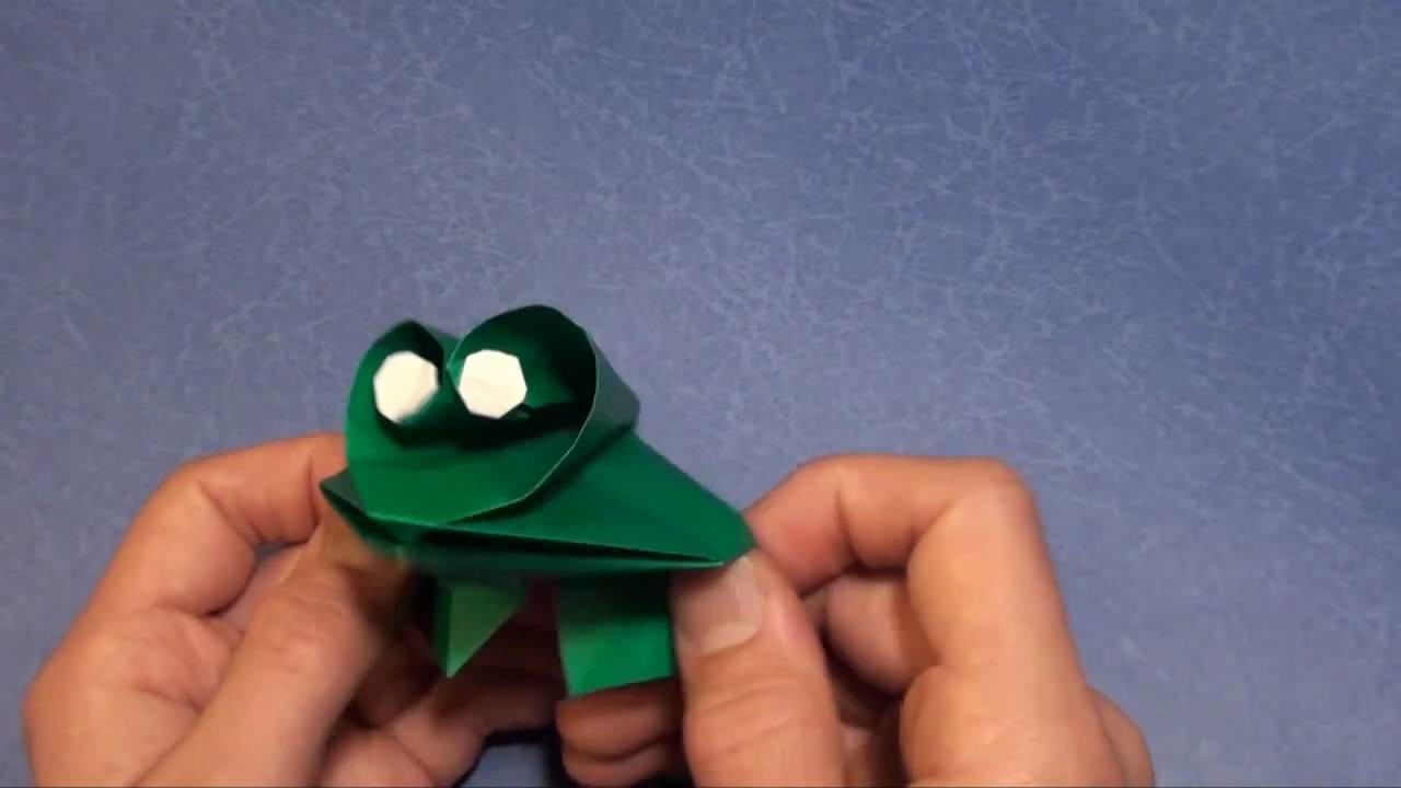Fold Prince Charming -- the Talking Frog! Designed by Jeremy Shafer