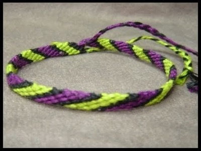 ► Friendship Bracelet Tutorial - Beginner - The Candystripe (Chevron Base)