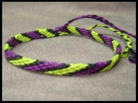 ► Friendship Bracelet Tutorial - Beginner - The Candystripe (Chevron Base)