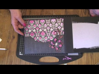 How I cover the pages in my chipboard albums
