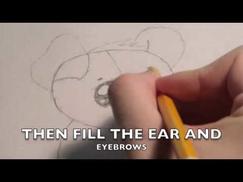 How to draw a cute puppy tutorial