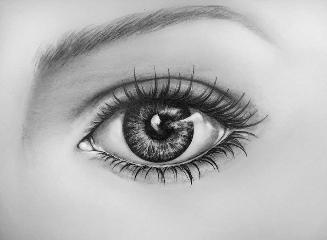 How To Draw An Eye, Time Lapse |  Learn To Draw a Realistic Eye with Pencil