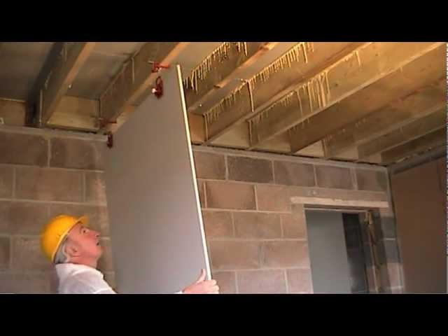 How to Fit Plasterboard to Ceilings. The Easy Way To Hang and Attach Drywall. Ceiling Boards