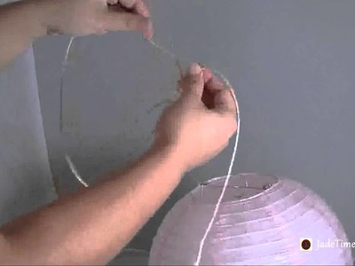 How to hang paper lanterns