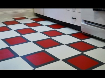 How to install a temporary vinyl tile floor - Season 1 - Ep 5