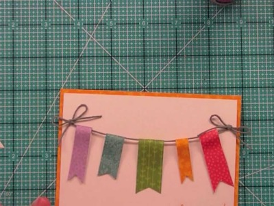 How to make a banner card from start to finish { Lawn Fawn }