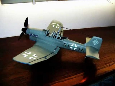 How To Make A Cool - STUKA JUNKER 87 Paper Model Airplane
