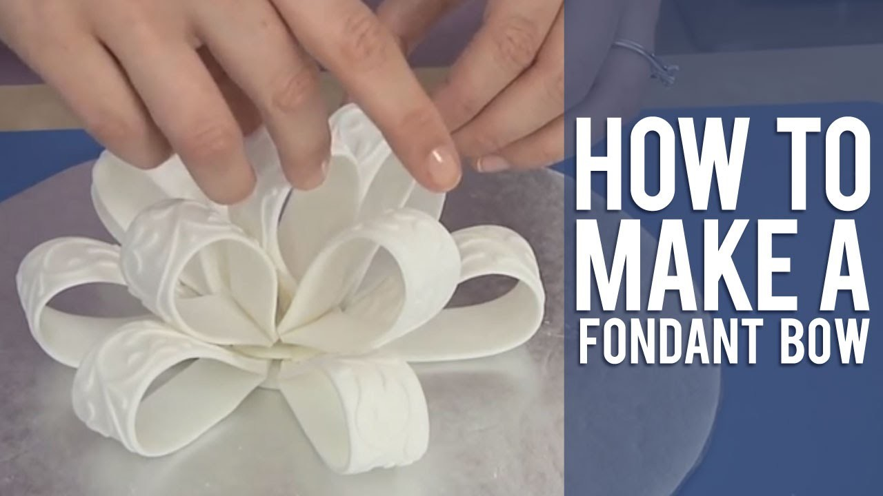 How to Make a Fondant Loop Bow