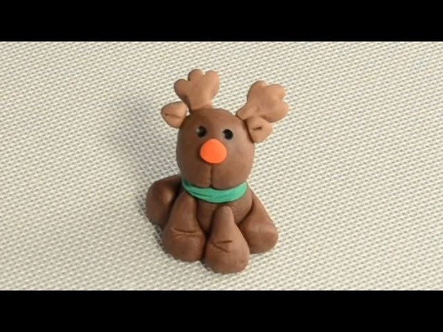 How to Make a Fondant Reindeer Cupcake.Cake Decoration by Cookies Cupcakes and Cardio