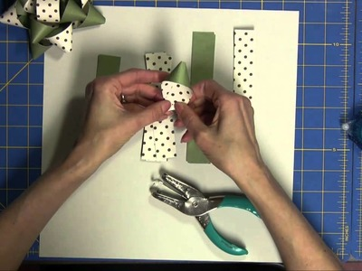 How To Make A Paper Bow Using Card Stock