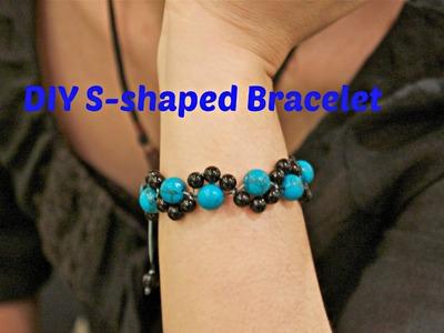 How to make a S-shaped snake knots bracelet - PART I by Lynn
