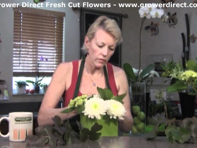 How to make a Shamrock out of a Galax Leaf