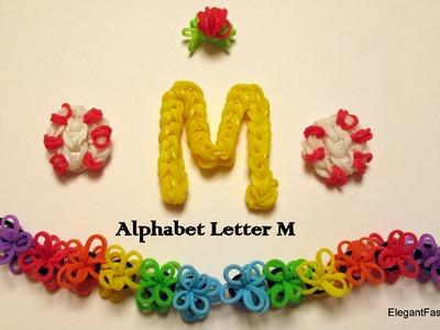 How to Make Alphabet Letter M Charm on Rainbow Loom
