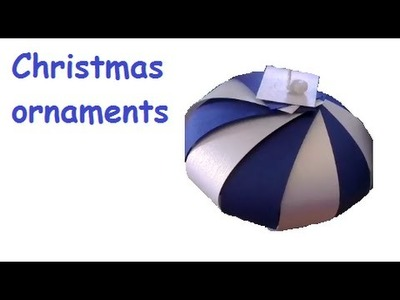 How to make Christmas ornaments - SUPER SIMPLE using paper strips