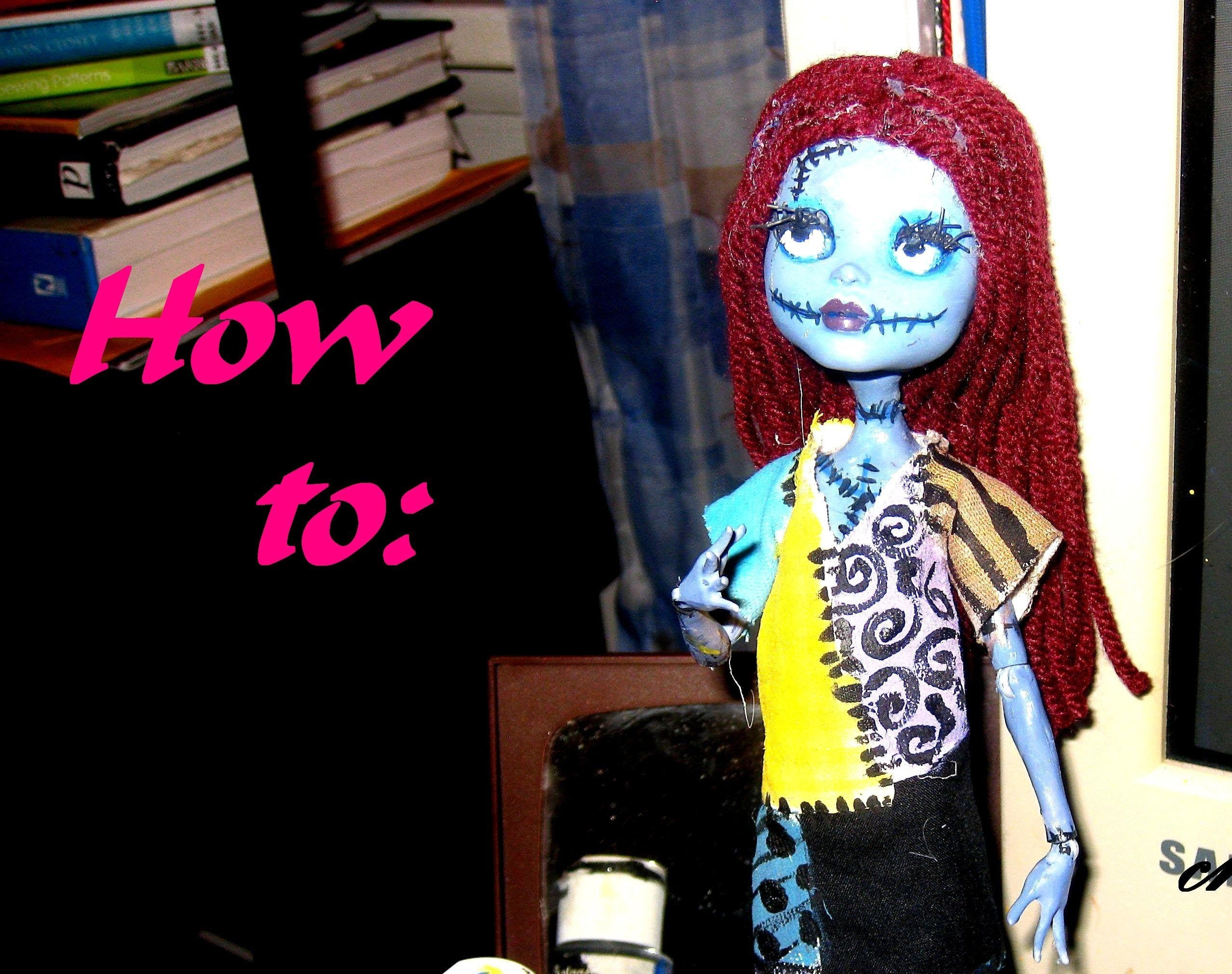 How To: Monster High Sally Doll Repaint, Inspired by Tim Burtons ...