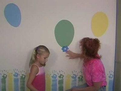 How to paint a balloons on kids rooms walls