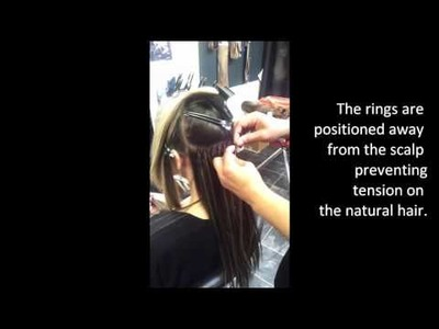 How to Professionally apply Micro Ring Hair Extensions Strand by Strand by Angelhair