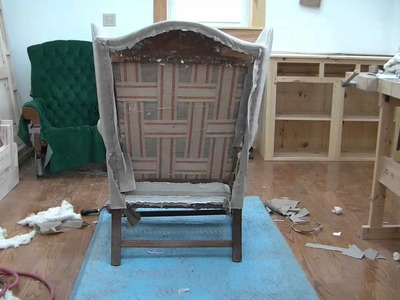 How To Reupholster A Wing Chair pt 20