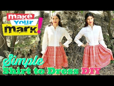 How to: Shirt to Dress DIY